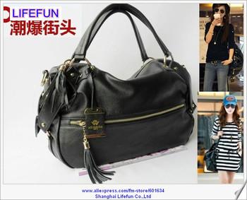 2014 new ladies women GENUINE REAL LEATHER tote bag shoulder bag messenger bag handbag LF06437a