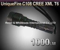 UniqueFire C108 CREE T6 1000LM 5-Mode LED Flashlight Torch