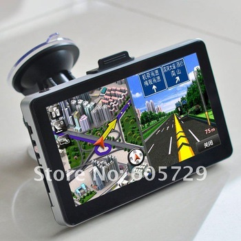 Av in gps navigation with Free map 7 inch 4GB 128DDR HD ARM11, 500MHZ