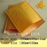 Kraft Bubble Mailers Padded Envelopes Bags Can be used for DVD 20*15cm+4cm 100 Pcs Fair price