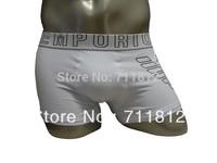 Top Quality 10pcs/lot White Colors Men's Boxershorts Underwear Mens Cotton Boxer...A01