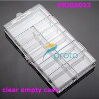 100 pcs Clear Empty case /Empty box/ Nail art box /French tips case/ Storage Case Box 11 Cells False Nail Art Tips Gems F0021XX