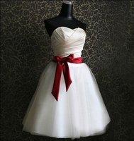 Korea Princess Bow Sweetheart Ball Gown Mermaid Wedding Dress Plus Size Handmade Bridal Gown Wedding Dress 2014