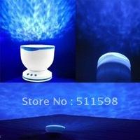 Free Shipping,Daren Waves Night Light Projector Speaker Lamp /Ocean waves projector lamp projection / romantic Christmas Gift