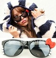 4 colors metal Designer Glasses Hello Kitty Sunglasses Women Retro Ladies girl Sunglasses Fashion Vintage spectacle cute kt cat