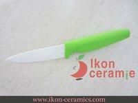 "Free Shipping! High Quality 4"" Ikon Ceramic fruit knife New 100% Zirconia Ceramic Knife(AJ-4001W-EG)"