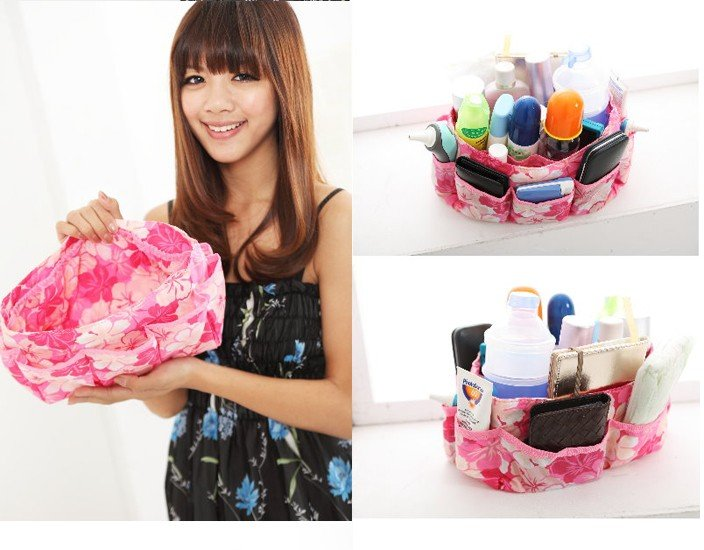 New handbag /fashion spot cosmetic bag / Fashion beauty essential vacuum storage bag,Easy to carry Hot storage bag(China (Mainland))