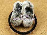 BG5193 2014 New Real Rex Rabbit Fur Earmuff With Flowers Pattern Winter Ladies Earfmuff
