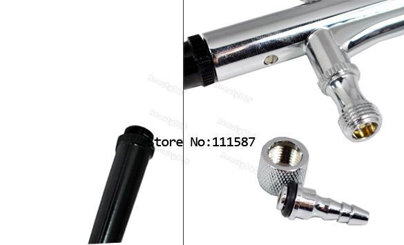 New 0.3mm Spray DUAL ACTION Nail Airbrush Kit Gun Paint Free Shipping 2086(China (Mainland))