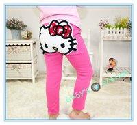 new freeshipping hello kitty girl girl winter clothing/winter pants kidstights for girls/leggings/fur/thick/5pcs/lot