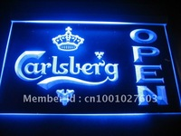 w105 Carlsberg Beer OPEN Bar Neon Light Sign.