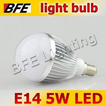 Supernova Sales 4pcs/Lot E14 5 LED 5W Warm/Cold White Bubble Ball Globe Light Bulbs LED Lamp Bright Free Shipping Hot Wholesale