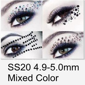 Eyeshadow Shimmer Giltter Makeup Eye Shadow Colors Mixed Rhinestones 1440Pcs/Lot HB924-S20