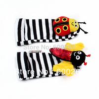Free shipping  Lamaze Garden A pair of children's bell cartoon socks#8477