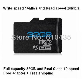 Wholesale real 16GB 32GB Micro SD TF MEMORY CARD 4 Mobile Phone Tablet with Class 10 real speed  free SD adapter