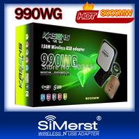 2013 kasens 990WG new 60DBI panel Antenna Ralink 3070 150M Wireless USB adapter WiFi usb lan card networking 6000MW 2.4GHz Free