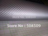 Silver 3D Carbon Fiber Vinyl Film Car Sticker Twill Weave Texture Glue with Release Air Drains Wrap carbon01
