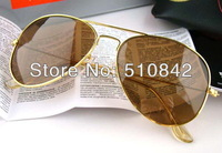 Женские солнцезащитные очки 1 pcs! Fashion Men's Matte Brown Sport Sunglasses Brand Glasses plastic Sun glasses modelK001