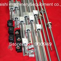 3 SBR sets +3 ballscrews RM1605+3BK/BF12 +3 couplers for CNC