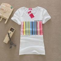 2014 Fashion Women Cotton T Shirt Women Tops  Round Neck Heart T-shirts F10