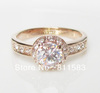 Min.order is $10 (mix order) 18K rose gold plated austrian crystal wedding anniversary promise engagement ring free shipping R68