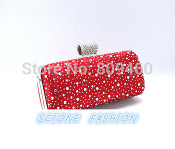 2014 new fashion Bride Woman evening bag,Handbag Wedding Day Clutches Rhinestone bag  Evening Bag,Ladies' party gift bag 20467