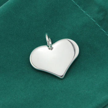 Free Shipping,925 Sterling Silver Plated Pendant low price Wholesale Only,Heart Pendant Wholesale. With word or not to choose.