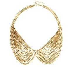 MIN ORDER:$30! Latest products in market special chain design collar necklace free shipping(China (Mainland))