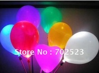 Wholesale -100  pcs Luminous balloons, new colorful LED balloons, wedding, bar supplies