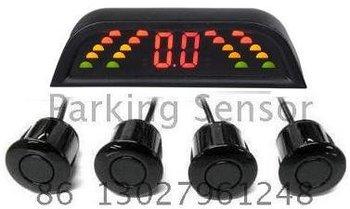 Guaranteed 100% Reverse Sensor Parking Radar New LED Display Car Parking Sensor System with 4 Sensors + 2012 Best Selling