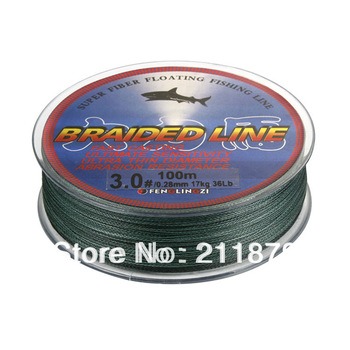 Wholesale - Free shipping100m 8LB10LB15LB20LB30LB40LB50LB65LB80LB green braided fishing line dyneema fishing equipment