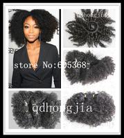 DHL or UPS Free Shipping 3pcs / lot Mixed Size afro kinky curl Malaysian Hair 5A Top Quality Natural Black Virgin Human Hair