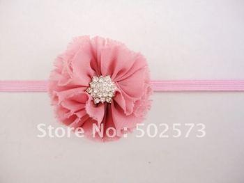 """2.5"""" Chiffon Shabby Look Flower Thin Elastic Headbands Baby Photography Prop 120pcs/lot"""