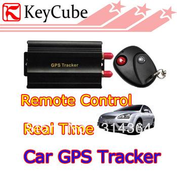 TK103B Car GPS tracker+ Remote Control Quadband Car Alarm Free Spanish Portuguese PC GPS tracking system Google map
