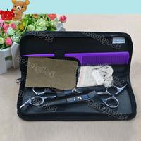 Professional Stainless Hairdressing Scissors Set Kit Barber Hair Thinning  2781
