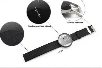New Fashion Ladies' Watch Simple Transparent Dial Quartz Wristwatches with PU Leather Strap