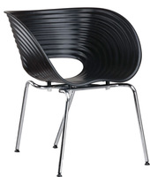 4 Pieces/lot ABS seat, chrome steel base  Ron Arad Tom Vac Chair