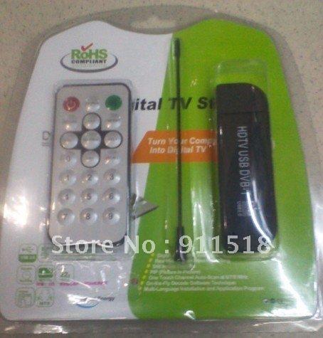 Free delivery!!! 6PCS USB2.0 DVB-T+DAB+FM Radio Tuner Receiver Mini TV Stick With Remote Control Antenna(China (Mainland))