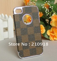 Mini order 1 pcs (6 color) Top grade / Elegant Plating Hard Case Cover For iphone 4G 4s , Free shiping