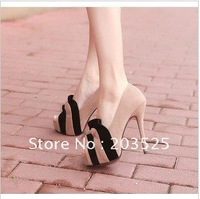 Wholesale 2012 new style Europe and the United States flowers shoes Waterproof shoes  Fish head High-heeled shoes