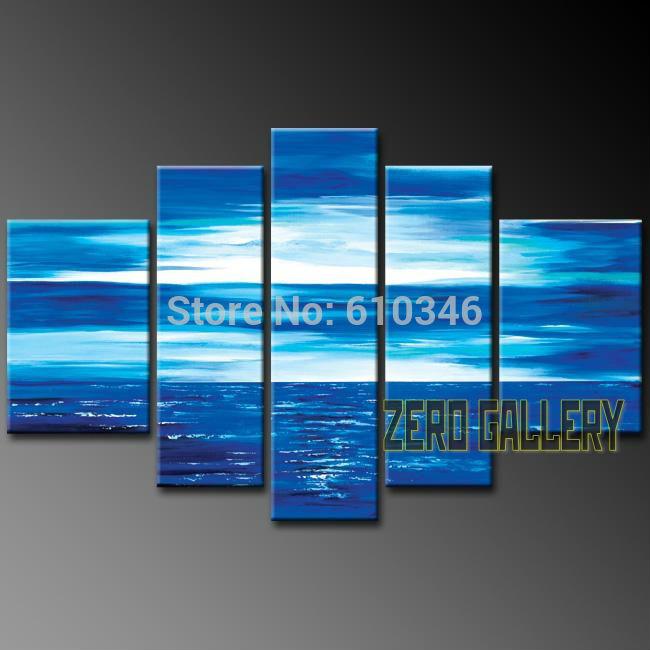 Promover oceano varejo acenar a combinação de moderno paisagens cenário praia e palmeira oil painting canvas art set 50012(China (Mainland))