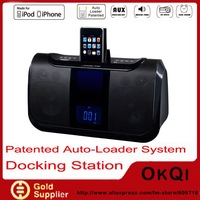 Аудио колонка Audio System for iPod\iPhone Speaker with Alarm Clock, FM Radio Charging dock FOR APPLE Authorized