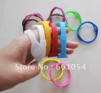 Wholesale 100pcs/lot Energy Silicone Bracelet Sport Anion Power Magnetic Wristband Two Holograms Bracelet With Blue Retail Box