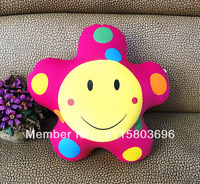 Free shipping smile face pillow. Star shaped pillow with foam filling. lovely pillow for home.decoration pillow 2pcs/lot