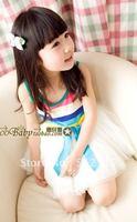 2012  Rainbow dresses  Vest dress 5pcs/lot mix full size Free shipping