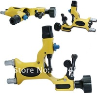 2012 Free shipping Hot selling Yellow DRAGONFLY Rotary Tattoo gun