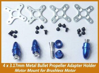 3.17mm metal bullet propeller adapter bracket motor mount brushless motor 4pcs