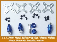 Brushless motor bullet 4x3.17mm Metal Bullet Propeller Adapter Holder Motor Mount for Brushless Motor
