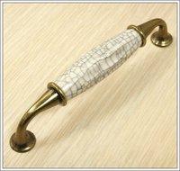 Cracks Ceramic Zinc Alloy Kitchen Cabinet Furniture Handle  (C.C.:128mm,Length:135mm)