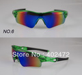 2012 upgrade version of  RADAR top Sports Sunglasses  Bicycle Bike Sunglasses Cycling Eyewear  with 5 pairs lens 16 color